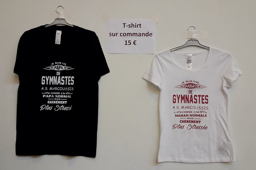 tee shirt personalisé gym as marcoussis