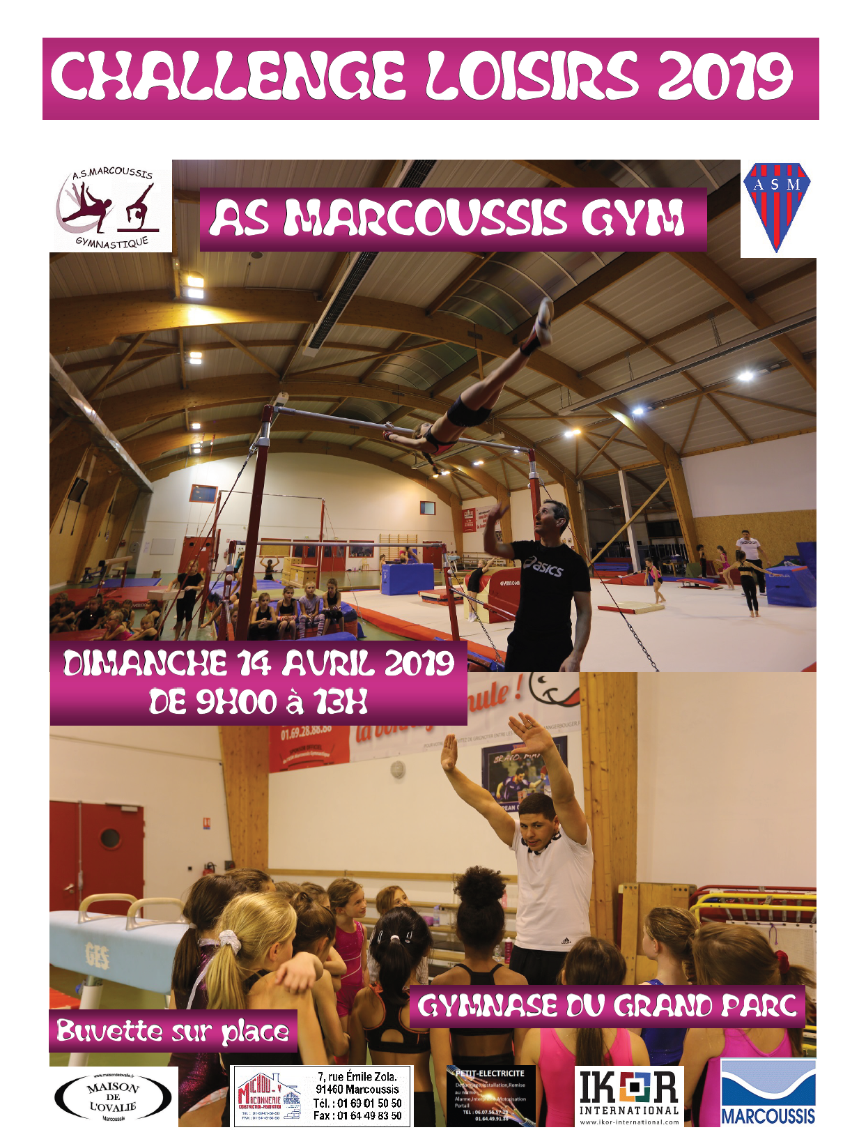 challenge gym loisirs as marcoussis