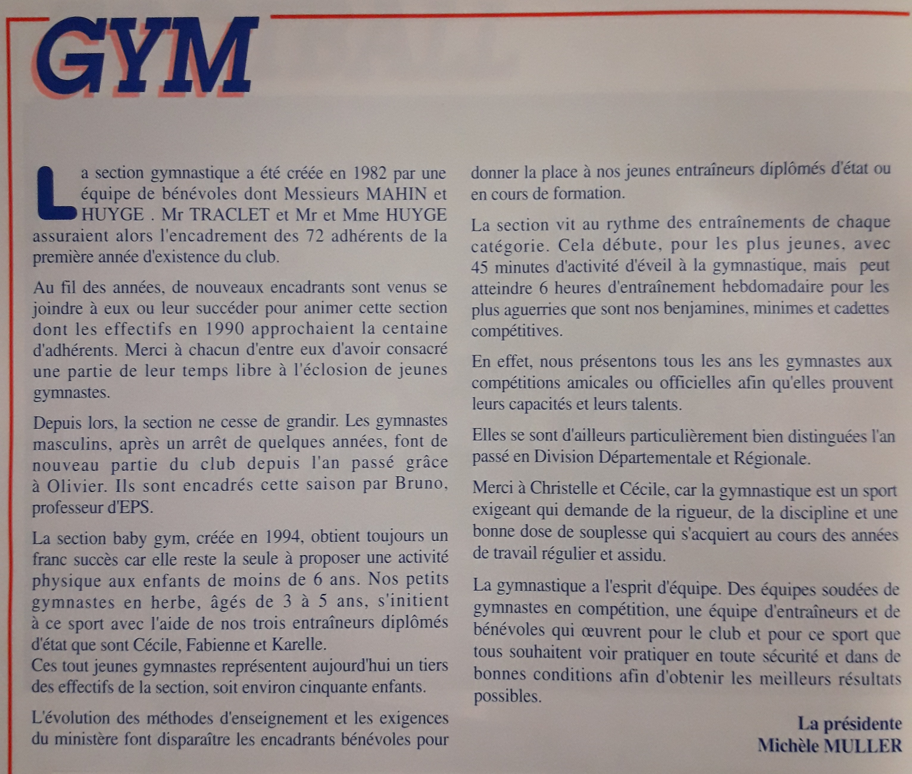 histoire asm gym marcoussis